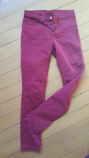 J Brand Skinny Jeans Modell 811 in Gr. 26 Black Cherry knöchellang 34 36 dunkles Rot