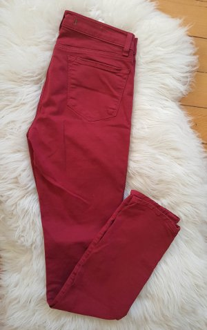 J Brand Skinny Jeans Modell 811 in Gr. 26 Black Cherry knöchellang 34 36 dunkles Rot
