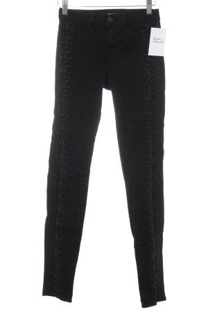 J brand Skinny Jeans schwarz florales Muster Casual-Look