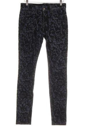 J brand Skinny Jeans schwarz-graublau florales Muster extravaganter Stil