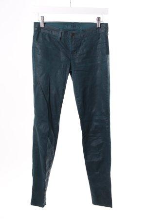 J Brand Skinny Jeans waldgrün beschichtet