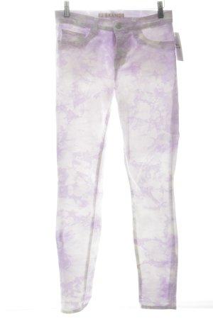 J brand Skinny Jeans weiß-flieder Batikmuster Casual-Look
