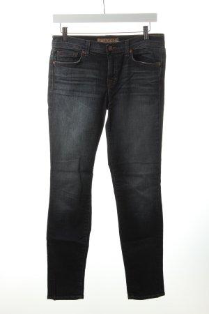 J brand Skinny Jeans wollweiß-dunkelblau Washed-Optik