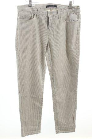 J brand Slim Jeans graublau-weiß Streifenmuster Marine-Look