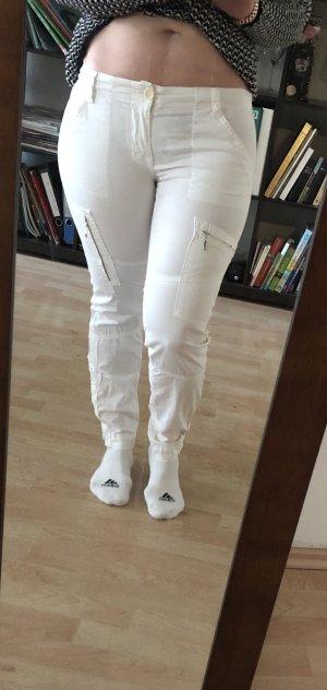J brand Pantalon taille basse blanc