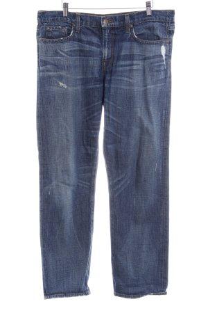 J brand Straight-Leg Jeans dunkelblau Destroy-Optik