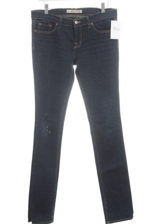 J brand Straight-Leg Jeans dunkelblau-dunkelorange Casual-Look