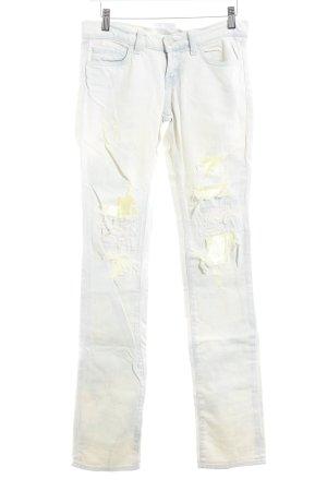J brand Straight-Leg Jeans wollweiß-himmelblau Bleached-Optik