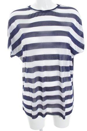 J brand T-Shirt dunkelblau-weiß Streifenmuster Marine-Look