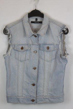 J brand Denim Vest sage green-pale blue cotton