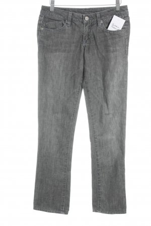 J & Company Straight-Leg Jeans dunkelgrau-wollweiß Washed-Optik