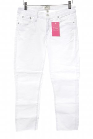 J.crew 7/8 Jeans weiß-silberfarben Casual-Look