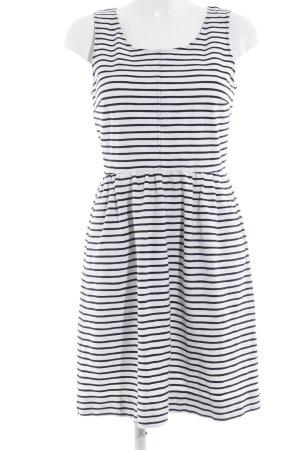 J.crew A-Linien Kleid weiß-dunkelblau Streifenmuster Casual-Look