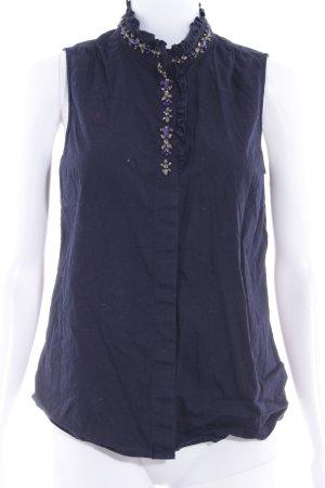 J.crew ärmellose Bluse dunkelblau Elegant