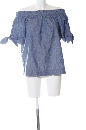 J.crew Carmen shirt blauw gestippeld casual uitstraling