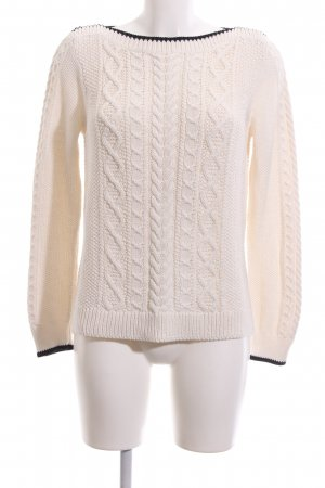 J.crew Coarse Knitted Sweater natural white-blue casual look