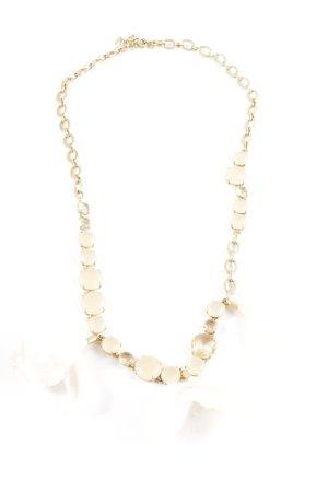 J.crew Halskette goldfarben-weiß Blumenmuster Elegant