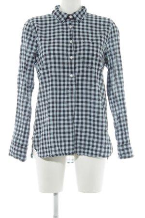 J.crew Geruite blouse donkerblauw-babyblauw geruite print casual uitstraling