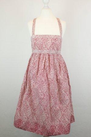 J Crew Kleid Trägerkleid Gr. 0 / 34 weiß rot Muster