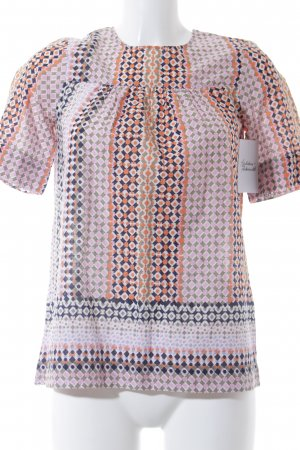 J.crew Kurzarm-Bluse abstraktes Muster Gypsy-Look