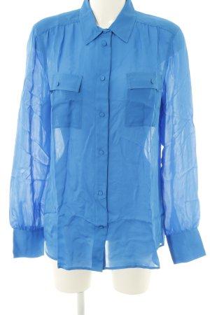 J.crew Langarm-Bluse blau Business-Look