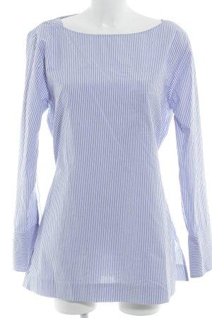 J.crew Langarm-Bluse weiß-kornblumenblau Streifenmuster klassischer Stil