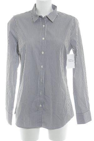J.crew Langarm-Bluse weiß-schwarz Streifenmuster klassischer Stil
