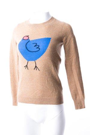 J.CREW - Leichter Pullover mit Vogelmuster Beige