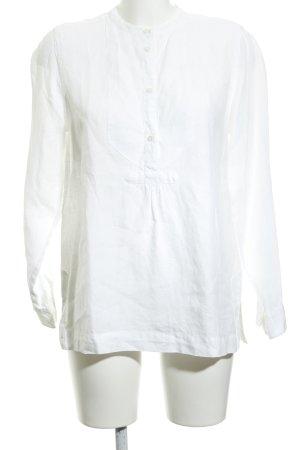 J.crew Blusa in lino bianco stile classico