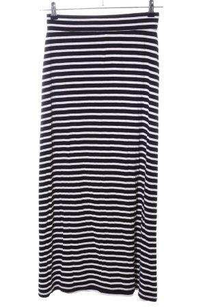 J.crew Maxi Skirt white-black striped pattern casual look