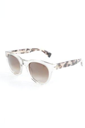 J.crew ovale Sonnenbrille braun-creme Animalmuster extravaganter Stil