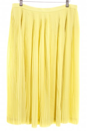 J.crew Pleated Skirt neon yellow extravagant style