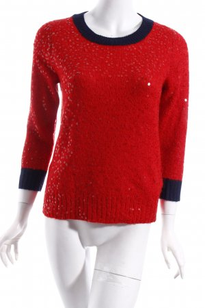 J.crew Pullover rot-dunkelblau Party-Look