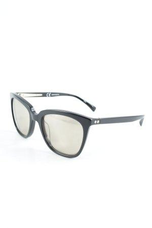 J.crew Ronde zonnebril zwart-zandig bruin klassieke stijl