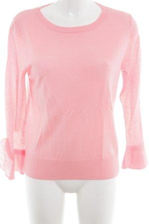 J.crew Rundhalspullover pink schlichter Stil