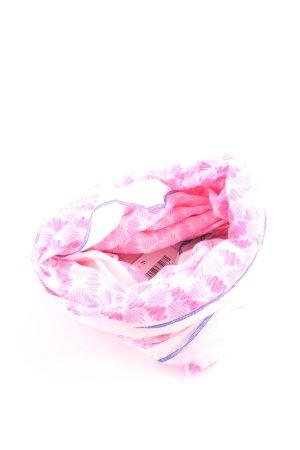 J.crew Rundschal pink-weiß abstraktes Muster Casual-Look