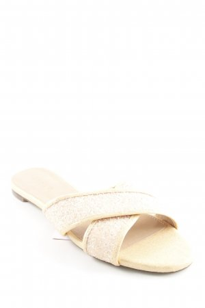 J.crew Sabots gold-colored-rose-gold-coloured glittery