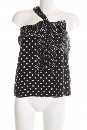 J.crew One Shoulder Top black-white spot pattern casual look