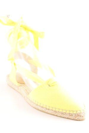 J.crew Ballerine à bride arrière jaune style Boho