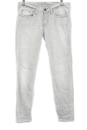 J.crew Straight-Leg Jeans hellgrau Used-Optik