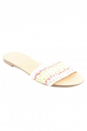 J.crew Beach Sandals check pattern Fringe trimming