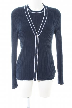 J.crew Knitted Twin Set blue-white casual look