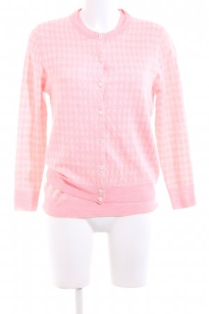 J.crew Knitted Twin Set pink-natural white allover print casual look