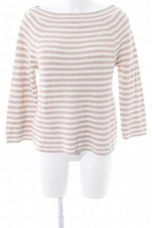 J.crew Strickpullover altrosa-weiß Casual-Look