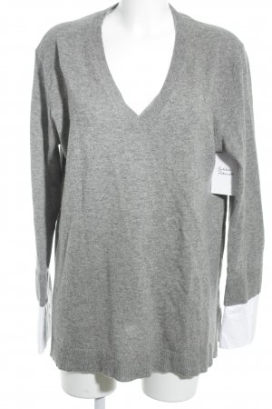 J.crew Strickpullover grau meliert 2in1-Optik