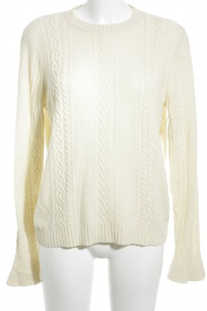 J.crew Strickpullover hellbeige Zopfmuster Casual-Look