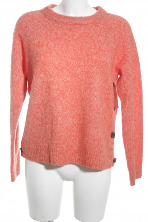 J.crew Strickpullover lachs-wollweiß meliert Casual-Look