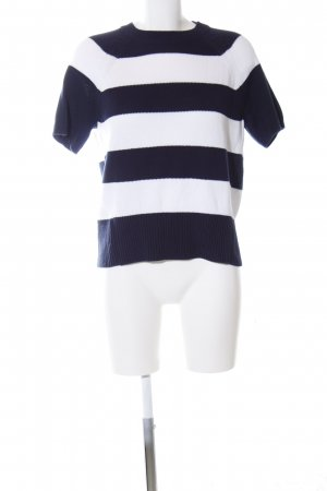 J.crew Knitted Jumper blue-white striped pattern casual look