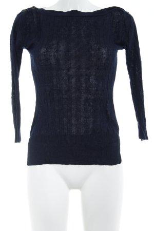 J.crew Camisa tejida azul oscuro estampado con diseño abstracto look casual
