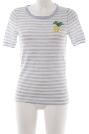 J.crew Camisa tejida blanco-azul celeste estampado a rayas look casual